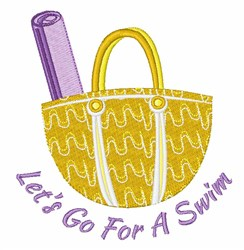 Lets Go For A Swim! embroidery design