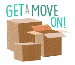 Get A Move On! embroidery design