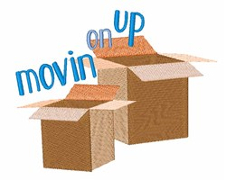 Movin On Up embroidery design