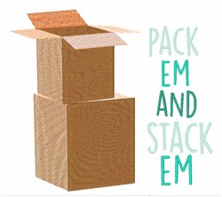 Pack & Stack Boxes embroidery design