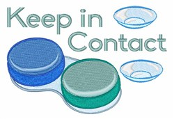 Keep In Contact embroidery design