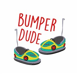 Bumper Dude embroidery design