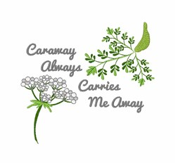 Carries Me Away embroidery design