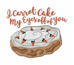 I Carrot Cake embroidery design