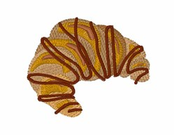 Chocolate Croissant embroidery design