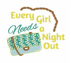 A Night Out embroidery design