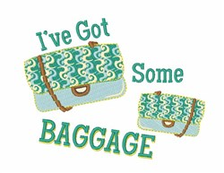 Some Baggage embroidery design