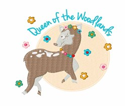 Queen Of Woodlands embroidery design