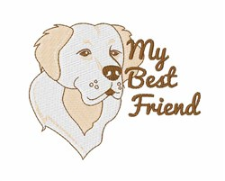 My Best Friend embroidery design