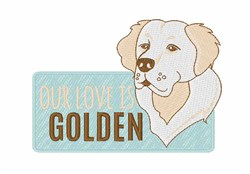 Love Is Golden embroidery design