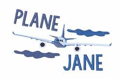 Plane Jane embroidery design