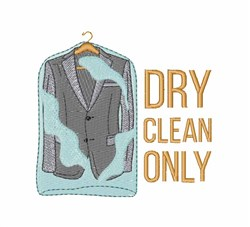 Dry Clean Only embroidery design