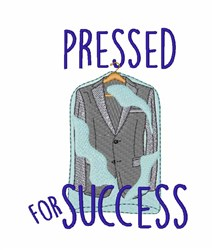 Pressed For Success embroidery design