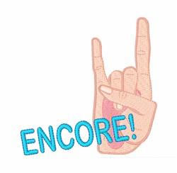 Encore! embroidery design