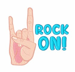 Rock On embroidery design