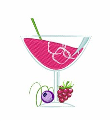 Fruit Cocktail embroidery design