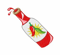 Hot Sauce embroidery design