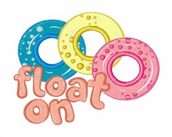 Float On embroidery design