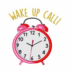 Wake Up Call embroidery design