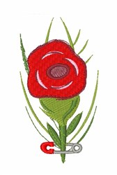 Lapel Rose embroidery design