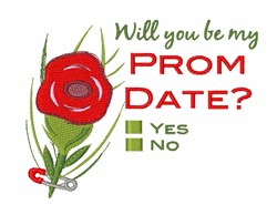 Prom Date embroidery design