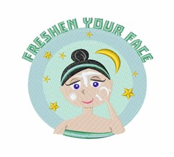 Freshen Face embroidery design