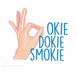 Okie Dokie Smokie embroidery design