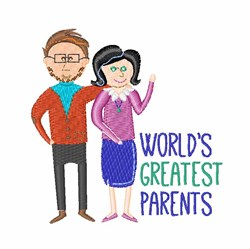 Greatest Parents embroidery design