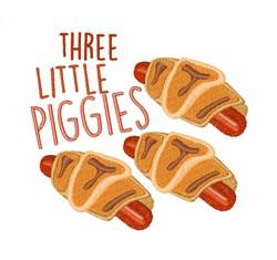 Three Little Piggies embroidery design