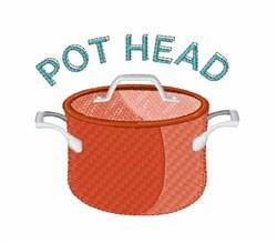 Pot Head embroidery design