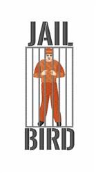Jail Bird embroidery design