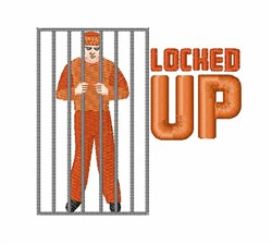 Locked Up embroidery design