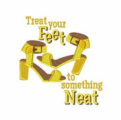 Treat Your Feet embroidery design