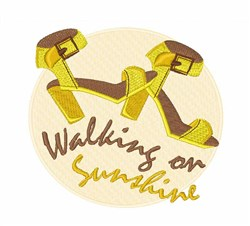 Walking On Sunshine embroidery design