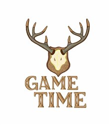 Game Time embroidery design