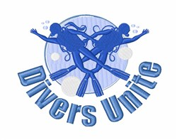 Divers Unite embroidery design