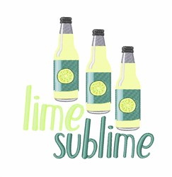 Lime Sublime embroidery design