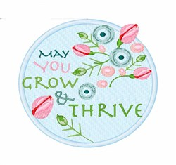 Grow & Thrive embroidery design
