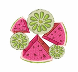 Watermelon & Lime embroidery design