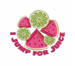 Jump For Juice embroidery design