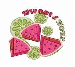 Sweet & Sour embroidery design