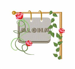 Aloha Sign embroidery design
