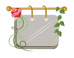 Rose Sign embroidery design