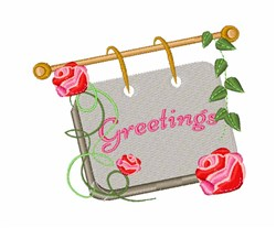 Greetings Sign embroidery design
