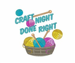 Craft Night embroidery design
