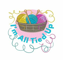 All Tied Up embroidery design