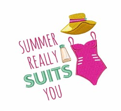 Summer Suits You embroidery design