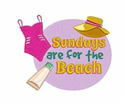 Sundays For Beach embroidery design