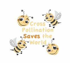 Cross Pollination embroidery design
