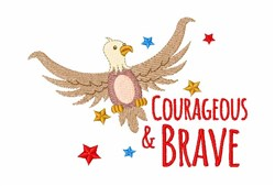 Courageous & Brave embroidery design
